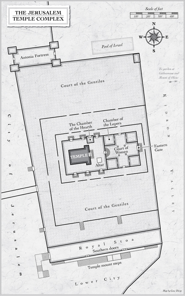 The Jerusalem Temple Complex map
