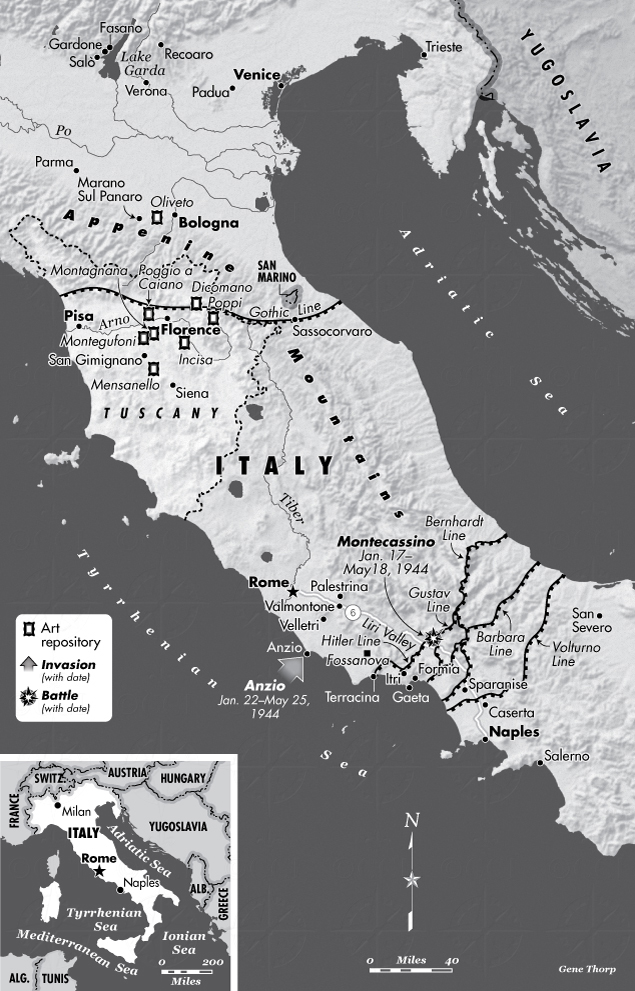 Map of Central Italy