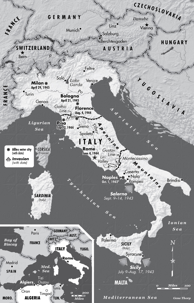 Italy during WWII map