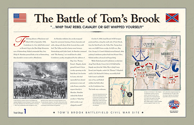 Battle of Tom's Brook wayside