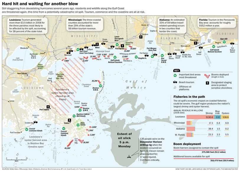 Gulf Oil Spill map