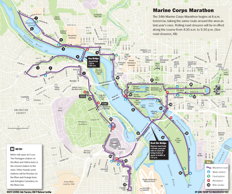 Marine Corps Marathon Map | Marine World