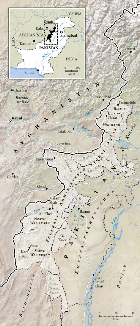 Map of Pakistan's Federally Administered Tribal Areas